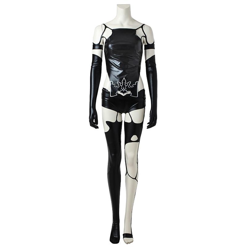 NieR:Automata YoRHa 2B A2 Commander Costume Cosplay Halloween Game Long Dress