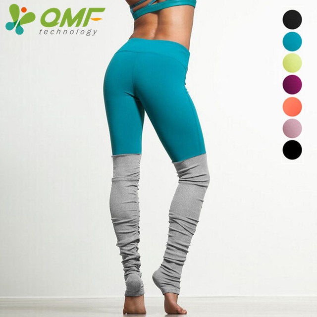 18d0ae58f6 Green Running Tights Yellow Sports Leggings Pink Yoga Pants Patchwork  Fitness Skinny Pants Slim Women Gym Leggings Push Up Sexy