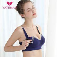 YATEMAO Comforty Women Maternity Bra Fashion Pregnancy Clothes Nursing Bra Breast Feeding Bra Wire Free Stretchy underwear