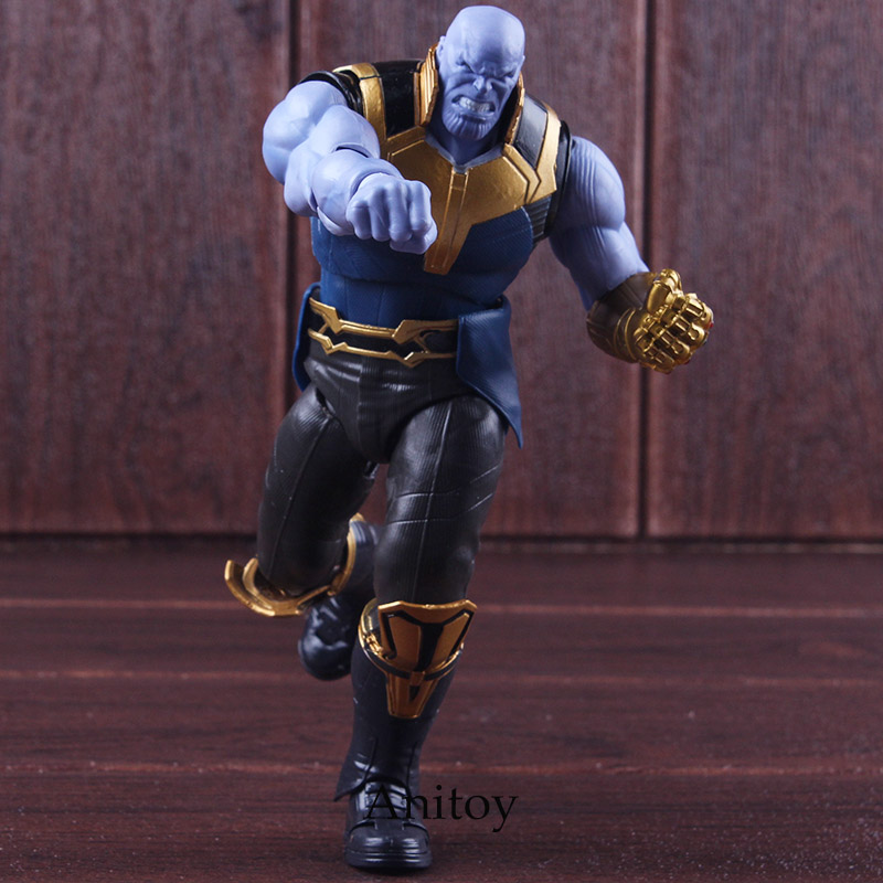 Figuarts SHF Marvel Avengers Infinity War Action Figure Thanos Toys PVC Collectible Model Toy shf figuarts superman in justice ver pvc action figure collectible model toy