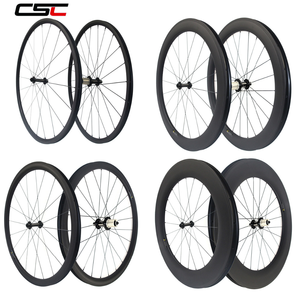Bicycle-Wheelset Clincher Tubular Carbon 88mm Super-Light Powerway R13 Depth AS511SB
