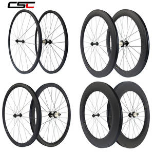 Bicycle-Wheelset Clincher Tubular Carbon Super-Light 88mm Powerway R13 Depth AS511SB