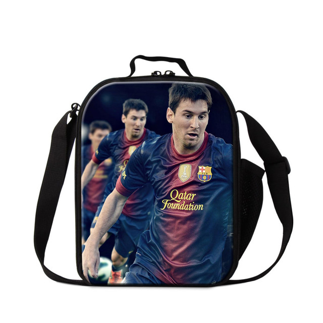 US $19 97 26% OFF|Neymar Messi Lunch Box Bag for Kids Small Insulated  Cooler Bag Soccers Lunch Container for Boys Thermal Bento Box Bag for  Food-in