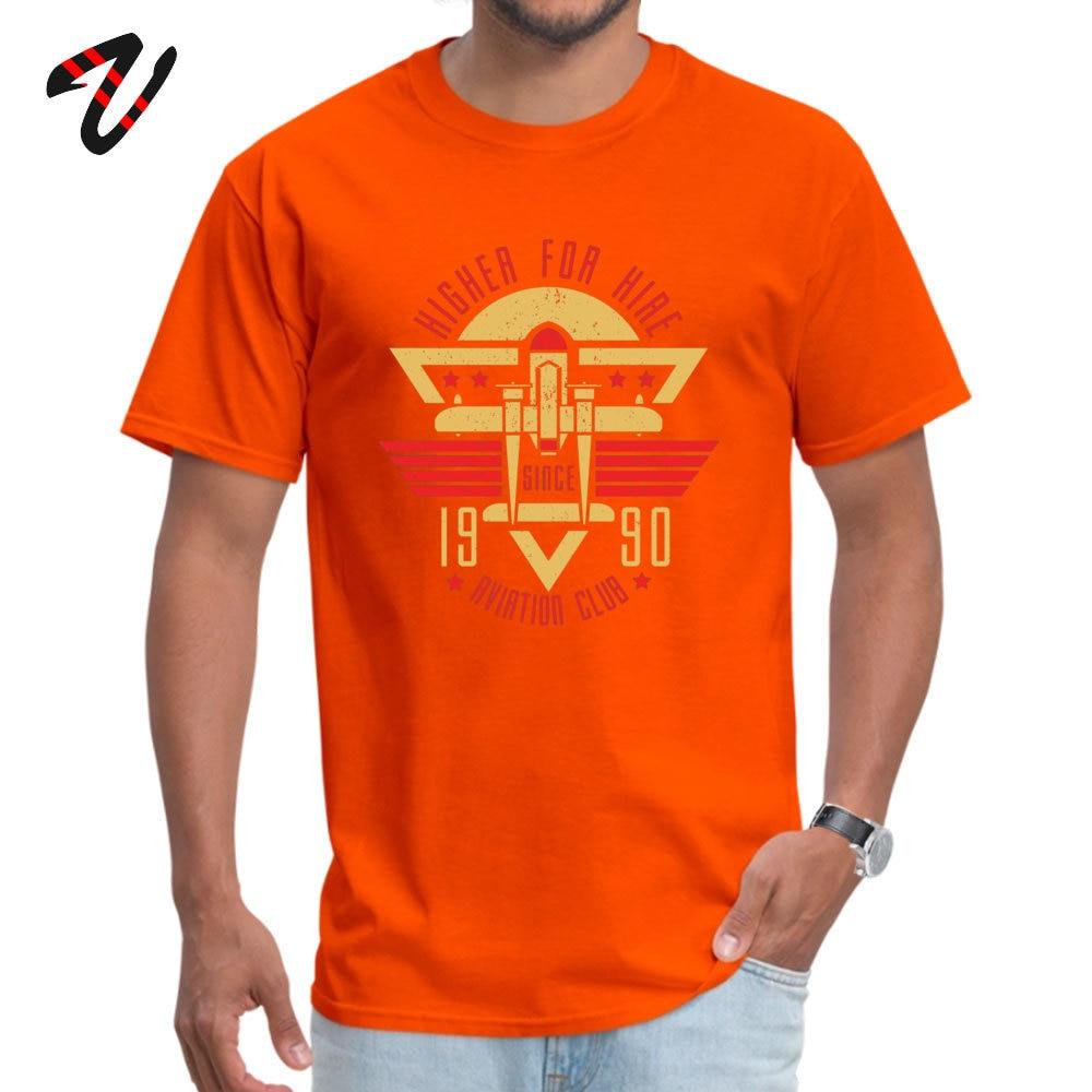 Aviation Club Summer Autumn 100% Cotton Crew Neck Tops Shirts Short Sleeve Camisa T-Shirt Coupons Family Top T-shirts Aviation Club 7088 orange