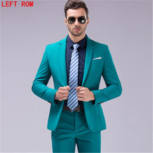 Desirable Time Men Green Party Suit Slim Fit New Fashion Purple and White Wedding Suit Men Brand Fashion Groom's Suit two-piece