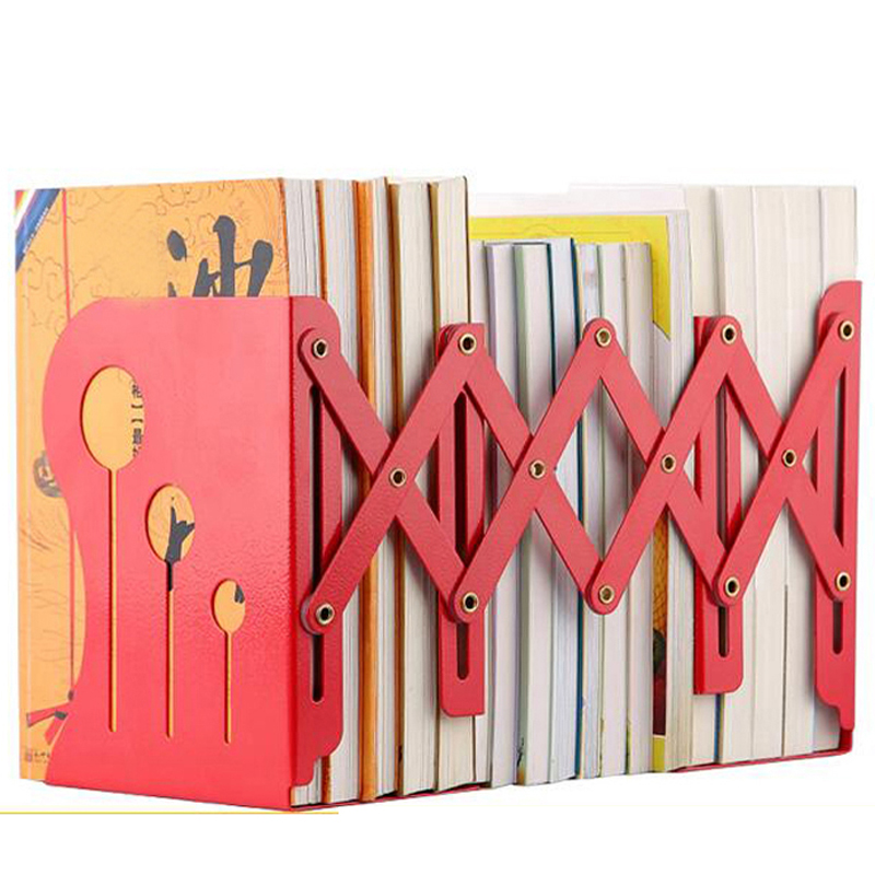 High Quality Fashion Retractable Metal Bookends Iron Home Office School Decorative Book Support Holder Desk Stands For Books high quality 40mm metal reels crystal retractable id bus card badge holder reel 3pcs lot with metal clip