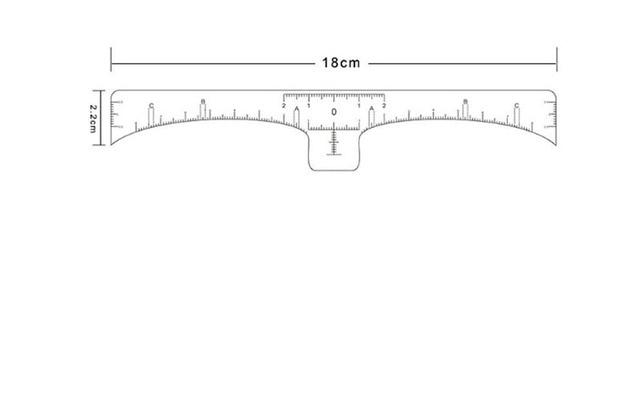 30pcs Tattoo accesories eyebrow ruler Disposable Microblading Makeup Brow Measure Eyebrow Guide Ruler Permanent Tools 4