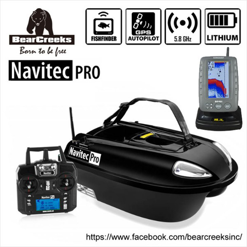 Navitec PRO V2 Carp night Fishing Wide-rang Baitboat Lure Fish Boat With Sonar BC151 Color Fish Finder and GPS Autopilot 500M RC телескопы бинокли srate 6x24mm 500m finder