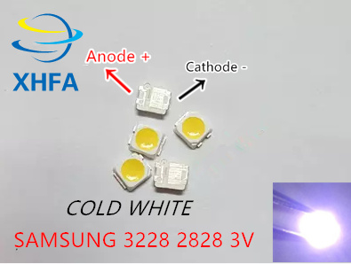 50pcs 2828 Led Backlight Tt321a 1.5w-3w With Zener 3v 3228 2828 Cool White Lcd Backlight For Tv Tv Application Sm Active Components