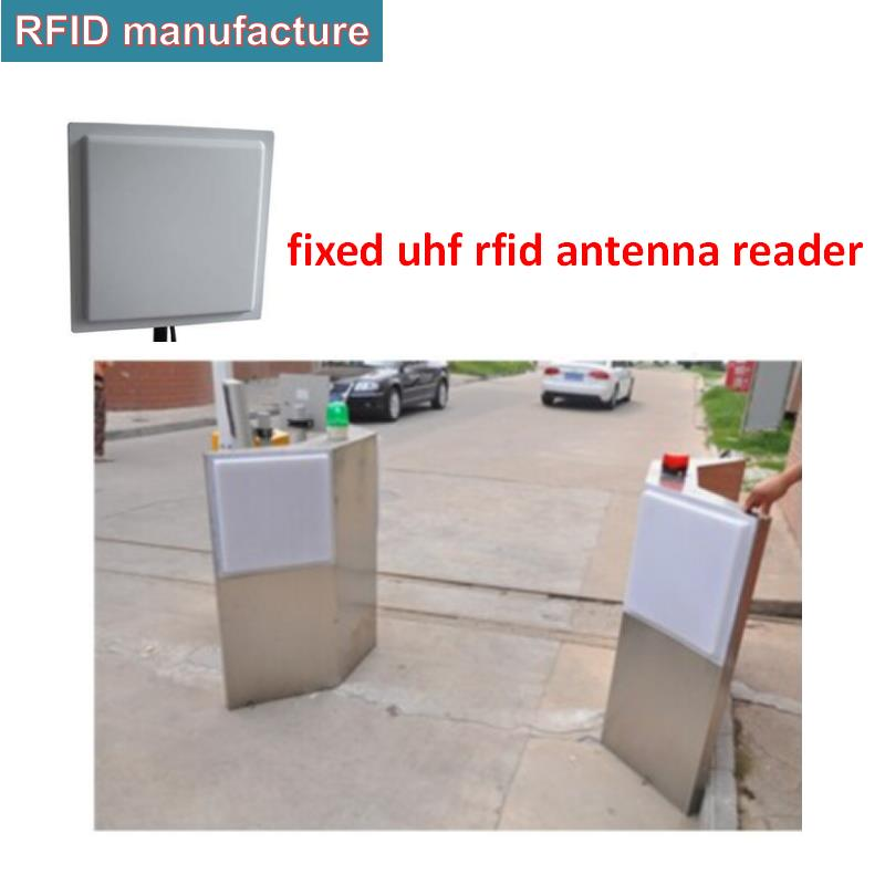 Smart 12dbi High Gain Rfid Antenna Reader Rs232 Wiegand26/34 Long Range Passive Rfid Tag Reader Uhf Epc Gen2 Linear Polarization Durable In Use Access Control Control Card Readers