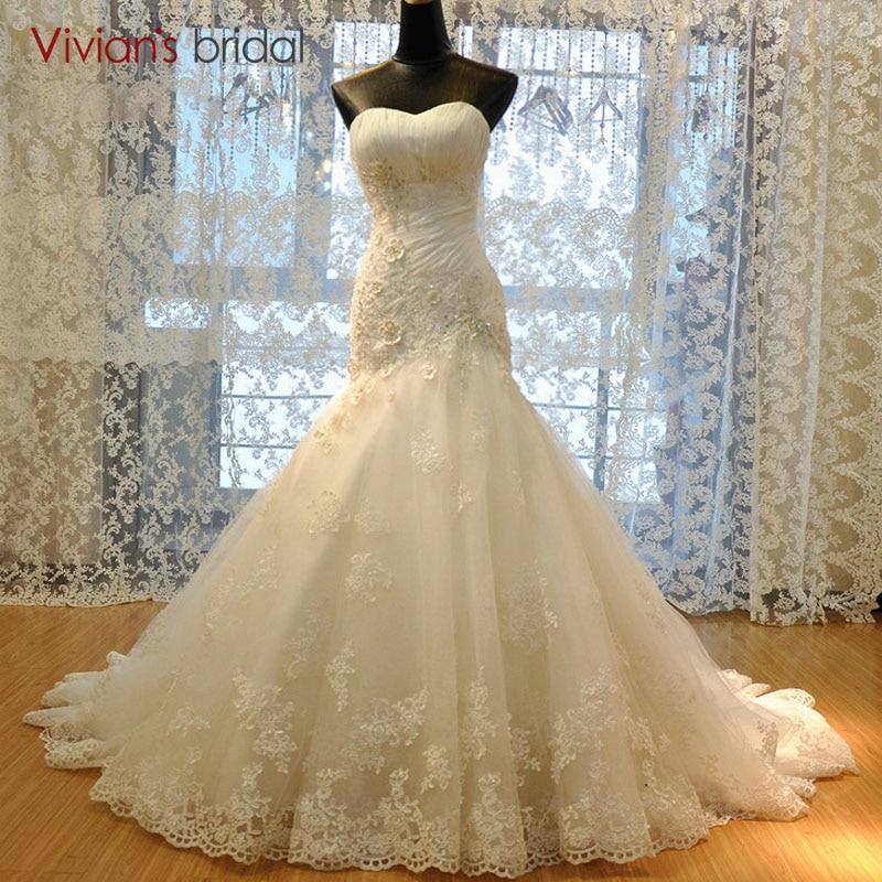 Lace Mermaid Wedding Dress 2018 Corset Bodice White/Ivory Bridal Gown Customized Vestidos De Novia Plus Size