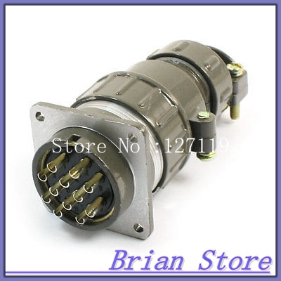 Waterproof Aviation Plug Pannel Connector Adapter 12 Pin P32-12 Core pannel mount p25 4 core 4 terminal aviation circular cable connector
