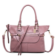 2016 Women Handbag PU Leather Women Shoulder Bags Fashion Solid Large Messenger Bag Famous Brands Women Leather Bag Satchel T312