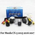Câmera de Visão Traseira do carro Para Mazda CX-5 CX 5 CX5 2015 2016 2017/RCA Com Fio Ou Sem Fio/HD CCD de Visão Noturna Lente Grande Angular câmera