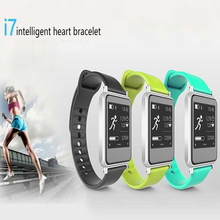 Lo nuevo iwown I7 Reloj Inteligente Con El Ritmo Cardíaco Fitness Muñequera Para Samsung Xiaomi iPhone Pulsera Salud Usable Dispositivos