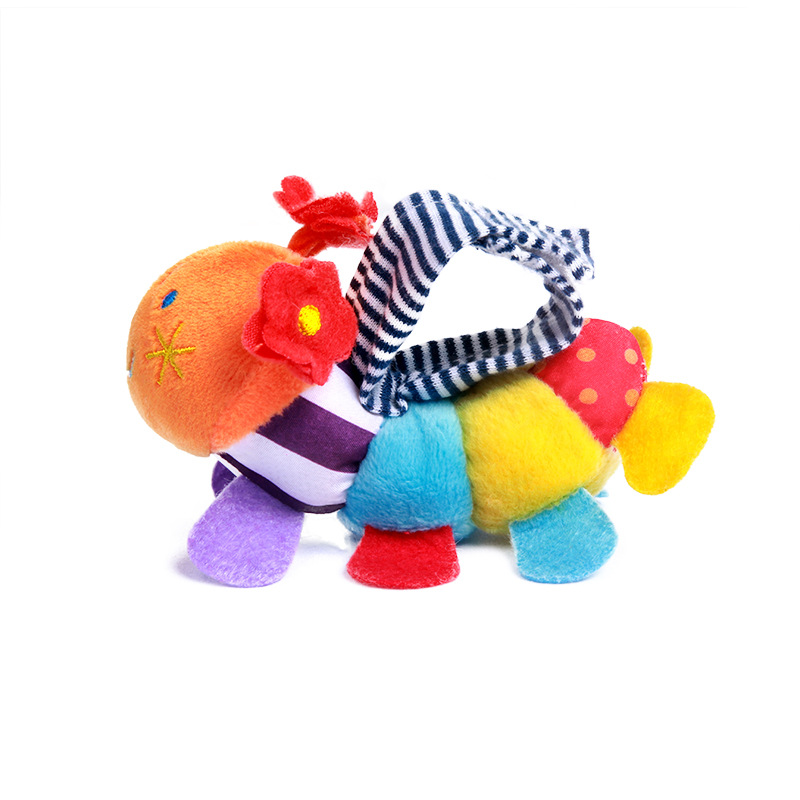 Cute colorful caterpillar infant watch wrist strap newborn gift adjustable plush toy wrist strap suitable for 0 2 years old in Baby Rattles Mobiles from Toys Hobbies