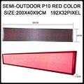 Полу-открытый P10 красный цвет 192X32 пикселей ПРИВЕЛО прокрутки сообщение движущихся знаки стены рекламы программируемый экрана панели магазин знак