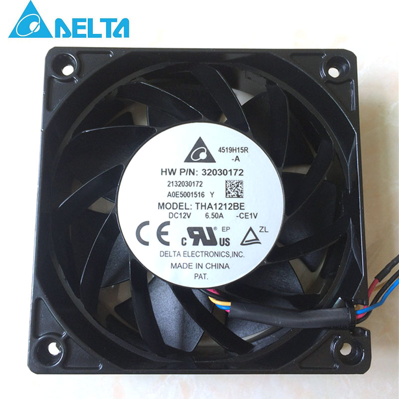 For Bitcoin GPU miner most powerful violent cooling fan Delta THA1212BE 12V 6.50A PWM 4-Pin computer water cooling fan delta pfc1212de 12038 12v 3a 12cm strong breeze big air volume violent fan