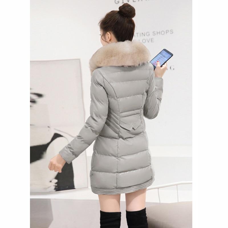 Artificielle gris Fourrure Dames Veste Pu Et 2018 Manteau Col Mode pourpre Slim Cuir Casual Lu378 Tempérament De Noir En Hiver rose Chaud rouge Coton wqqRtI