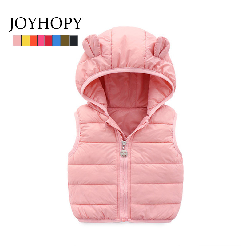Hooded Vests Kids Children Warm Down Jacket Baby Girl Outerwear Coats Thick Vest