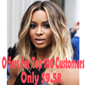 Celebrity Ciara Hairstyle Ombre Blonde Wig Short Pixie Wig Cheap African American Short Wigs For Black Women Lolita Wig Women