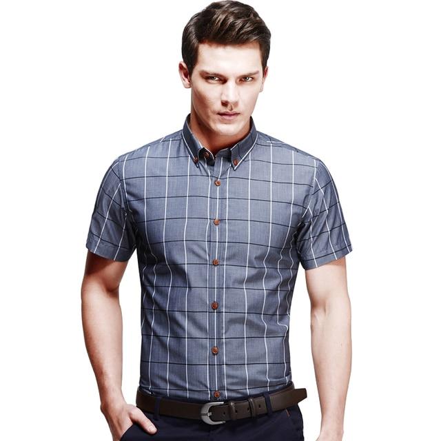 buy mens short sleeve shirt plaid