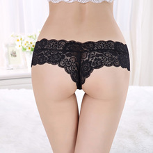 Sexy G String Women Lace Transprent Low Waist Thongs Underwear Briefs