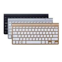 Teclado inalámbrico de 2 4G  tijeras y teclado pies para Notebook  portátil  Mac  escritorio  PC  TV Box Android  suministros de oficina
