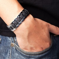 Power Ionics Titanium Germanium Men Bracelet Band Balance for Men PT003