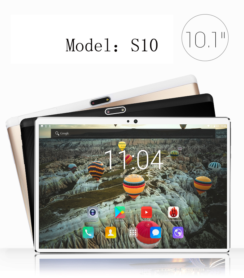 2018 10 1 Android 7 0 Tablet Pc Octa Core 4GB RAM 64GB Tablette Built in
