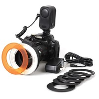 Photo Studio Ring Flash 100 240V/50 60Hz W48 LED Macro Ring Video Light Lamp for Canon Nikon Sony