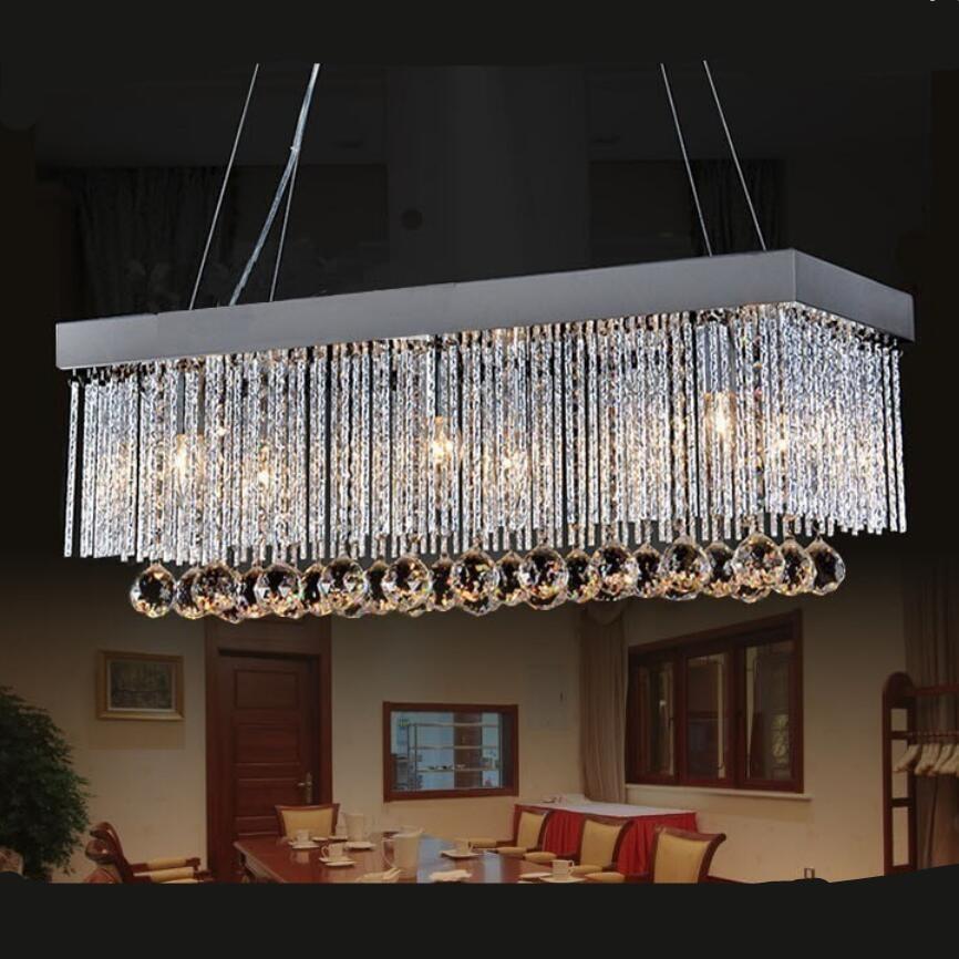 US $95.66 13% OFF|Moderne led kronleuchter led lampen wohnzimmer esszimmer  K9 Kristall kronleuchter E14 led licht kronleuchter led lustr ...