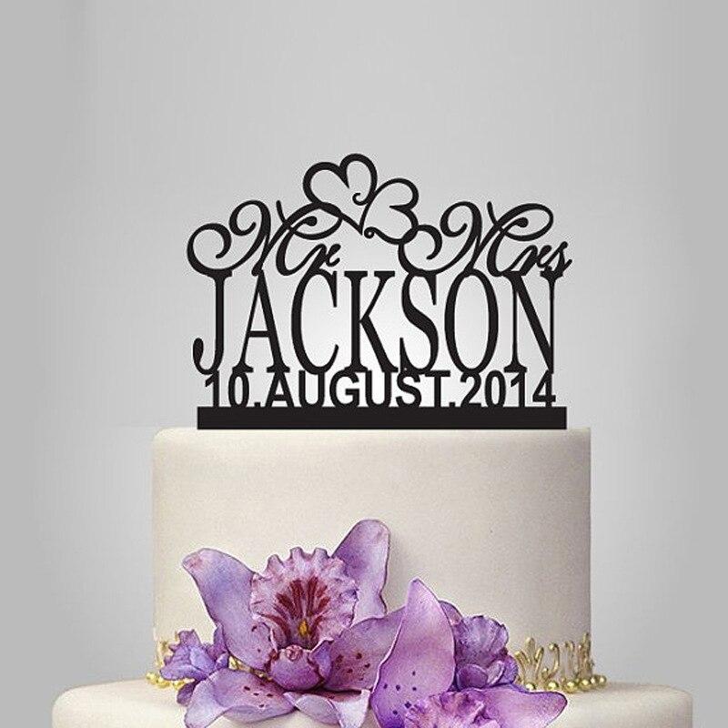 reales apresurado de acrlico elegante pastel de bodas topperstand de la boda