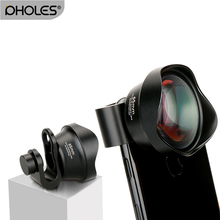 Pholes Mobile Phone 2X Telephoto Lens 4K HD Tele Portrait Lens Camera Lenses Clip-On Lens for iPhone 8 7 X Plus Samsung S8 S9