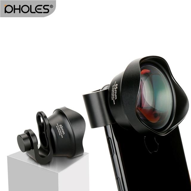 hot sale online e2c51 2ffad US $26.22 39% OFF|Pholes Mobile Phone 2X Telephoto Lens 4K HD Tele Portrait  Lens Camera Lenses Clip On Lens for iPhone 8 7 X Plus Samsung S8 S9-in ...