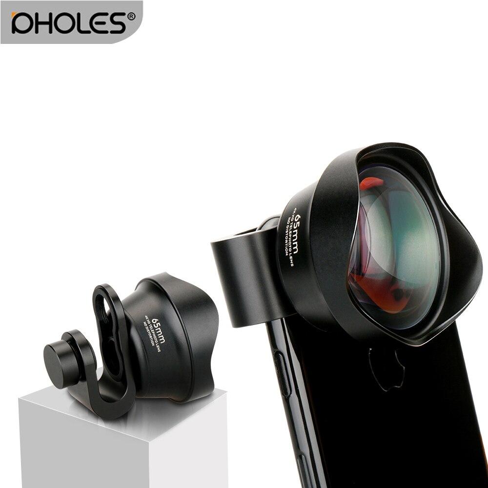 Pholes teléfono móvil 2X teleobjetivo 4 K HD Tele retrato lente lentes de cámara del Clip de la lente para el iPhone 8 7 X Samsung S8 S9