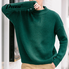 PUZA new sweaters autumn winter fashion men sweater casual thicken fleece male top sweater mens crewneck slim fit men clothing
