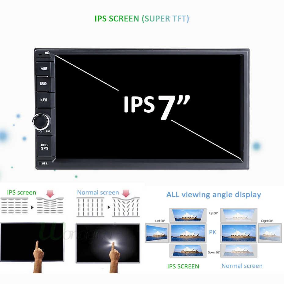 """7 """"ips экран 2 DIN Универсальный Android 9,0 Автомобильный мультимедийный плеер gps для NISSAN toyota HYUNDAI Радио Автомобильная компьютер без DVD"""