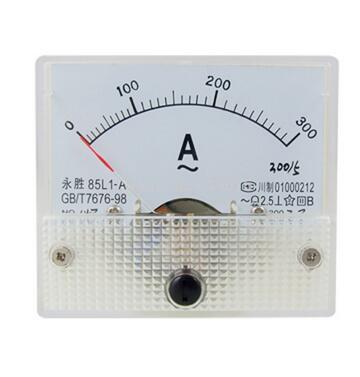 Квадратный аналоговый панельный амперметр, класс 2,5, 64x56 мм, 85-A, переменный ток 0-A, 300A