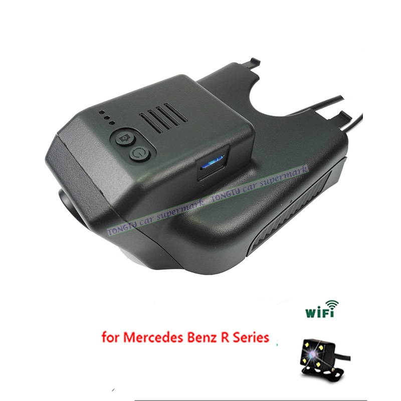 Dual Lens Novatek 96655 Sony IMX322 Car Wifi DVR for Mercedes Benz R 2015 ML GL w164 x164 2006-2012 Hidden Installation new electric power window switch for mercedes benz gl r ml class 2006 2012 oe 2518300090 2518300090