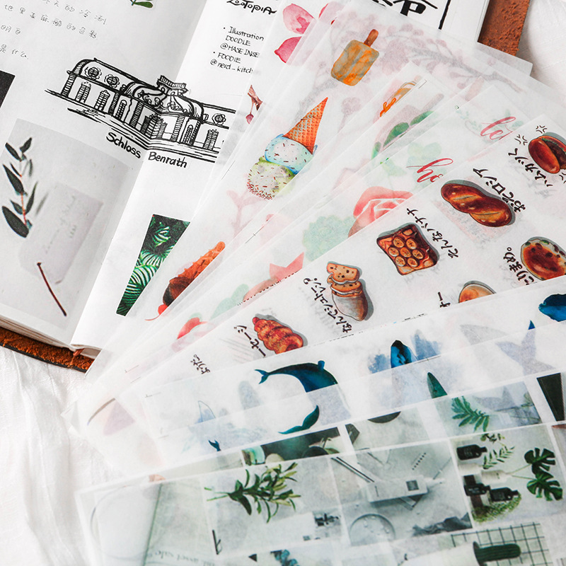 1bag Plant Star Animal Food  Bullet Journal Decorative Stickers Scrapbooking Stick Label Diary Stationery Album Stickers