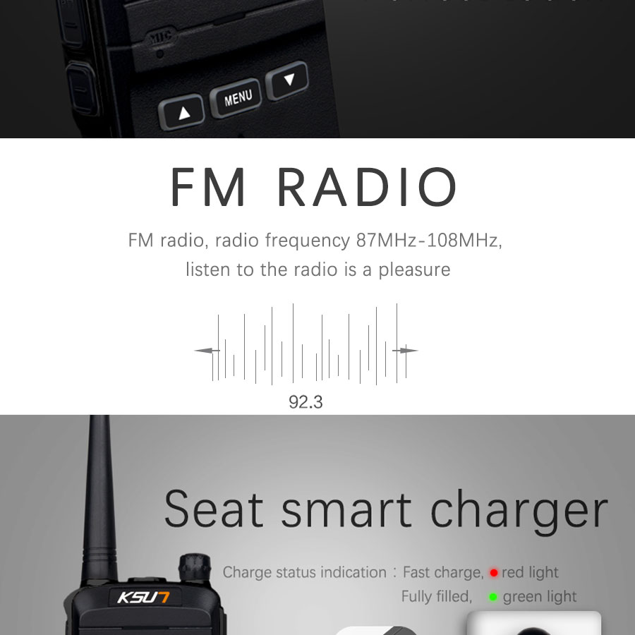 (2pcs) KSUN X-30 handheld walkie talkie portable radio 8W high power UHF Handheld Two Way Ham Radio Communicator HF Transceiver HTB1GJ