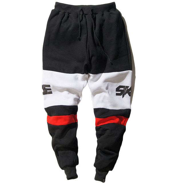 Novo 2017 moda mens corredores impressos casuais masculinos hip hop baggy jogger calças soltas sweatpants homens calças pantalon homme z10