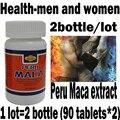 2bottle/lot 100% dried Peru Maca, 180 tablets Maca root extract powder, pure organic peru maca,Health-men and women ree shipping