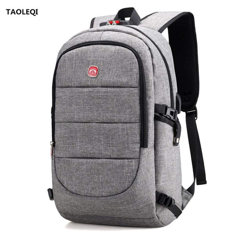 Multifunction USB charging Men 15 17inch Laptop Backpacks For Teenager Fashion Male Mochila Leisure Travel backpack anti thief baijiawei men and women laptop backpack mochila masculina 15 inch backpacks luggage