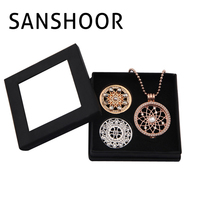 SANSHOOR Newest Jewelry Gift Box Set With 2pcs 33mm Star Flower And Shooting Star Coins