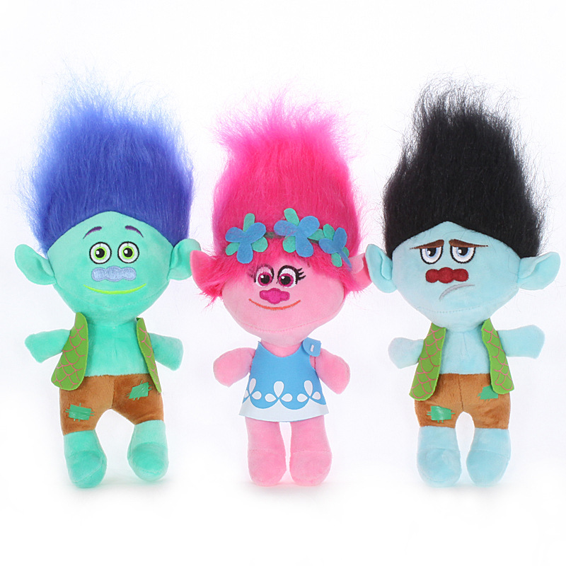 5inch / 8inch Trolls Poppy Branch Stuffed Plush Toy Pendant Toy Colorful Magic Hair Toy Gifts For Children Elf Baby Doll