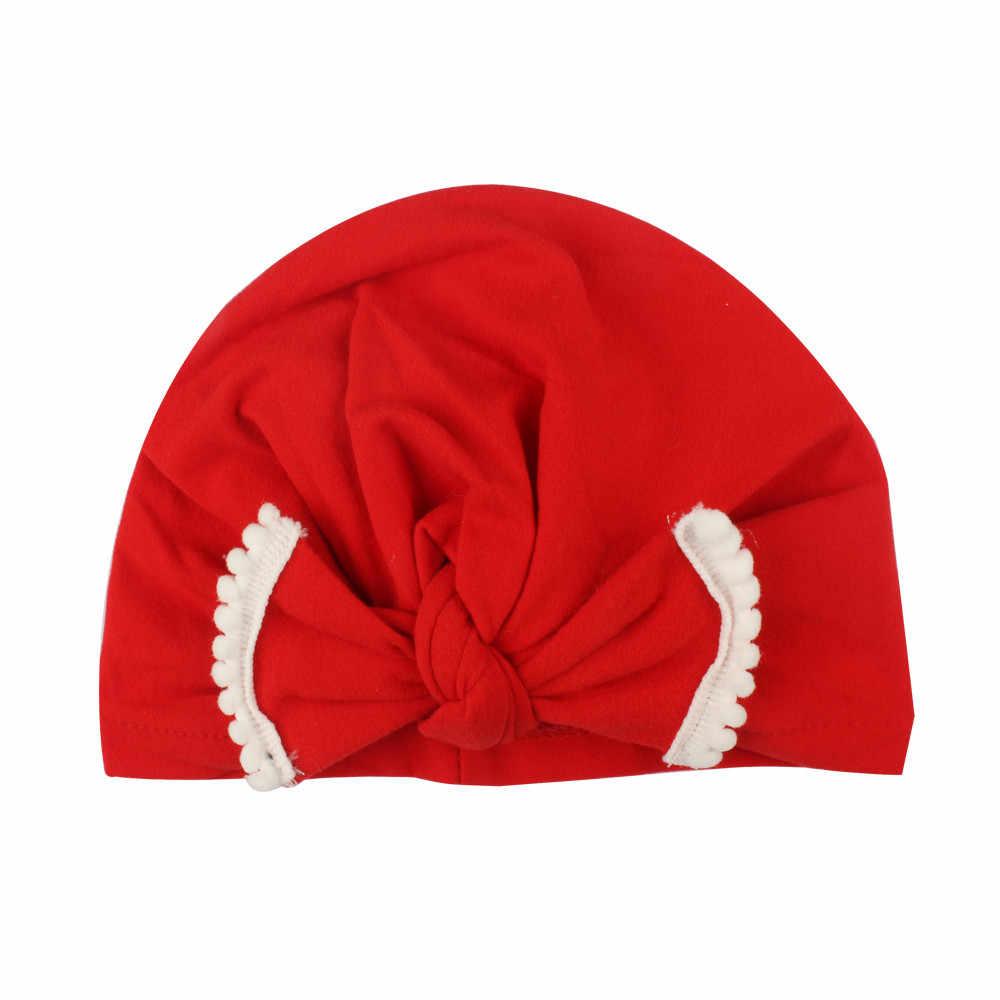 LONSANT หมวกเด็กทารกแรกเกิดเด็กหมวกเด็กวัยหัดเดินเด็กน่ารักเด็ก Turban หมวกผ้าฝ้ายหมวกหมวกฤดูหนาวหมวก