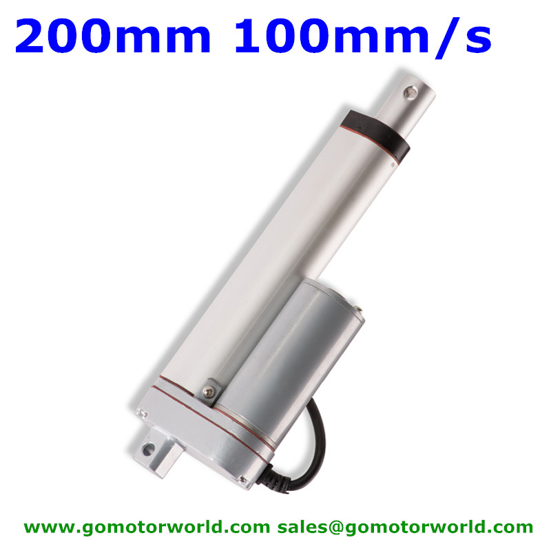 Best Electric industry Linear Actuator 12V 24V 200mm Stroke 1500N load 90mm/s speed actuator linear waterpoof industry linear actuator 12v 24v 300mm stroke 1600n load 100mm s speed actuator linear
