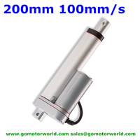 Best Electric industry Linear Actuator 12V 24V 200mm Stroke 1500N load 90mm/s speed actuator linear